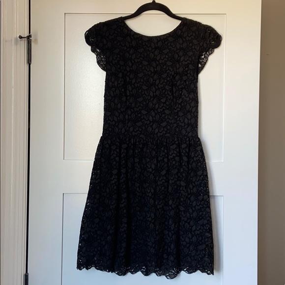 ARITZIA talula black lace mini dress - size 4